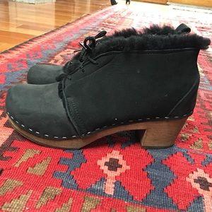 Shearling Clog Boots 40